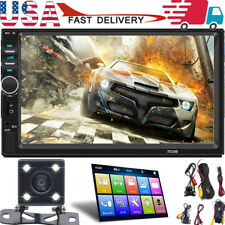 7'' DOUBLE 2DIN Car GPS MP5 Player Bluetooth Touch Screen Stereo Radio Camera