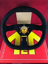MOMO MOD 88 320MM Black Suede Black Stitching Steering Wheel  R1988/32S