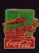 1986 Disney Coke 15th Coca Cola Main Street USA Horse Trolley LE 1000 Pin Rare