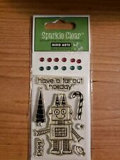 Hero Arts Sparkle Clear: Far Out Holiday Stamp Set Nip