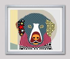 Art Retriever Golden Dog Print Cubism Pop Art Puppy Pet Giclée Modern Painting
