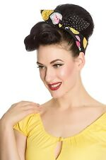 Hell Bunny Tutti Frutti Hair Tie Scarf 50s Rockabilly PinUp Polka Bandana Dot