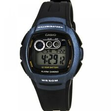 Casio Mens Digital Resin Strap Watch Black