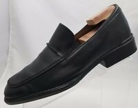 Rockport Mens Loafers Square Toe Black Leather Slip On Shoes Size 10M