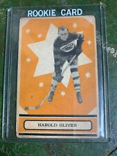 Harold Oliver Rookie Card OPC Series A 1933-34 (No Creases)