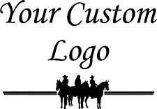 Your Custom Logo Vinyl Decal Stickers Horse Trailer Truck 22x18