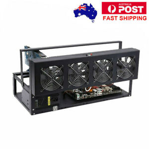 6/8 GPU Aluminum Stackable Open Air Mining Rig Computer Frame Miner Case Holder@