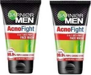 Garnier Men Acno Fight Anti-Pimple Facewash, PACK of 2 100gm