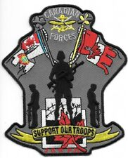 """CANADIAN  FORCES  """"Support Our Troops""""  (3.5"""" x 4.5"""" size) (fire patch)"""