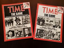 Lot of 2 Time Magazine The Game Q & A Trivia Game booklets, over 4000 questions