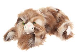 """Ganz Googles[R] Longhair Cat, 15"""" Brown"""