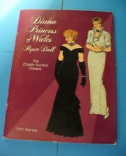TOM TIERNEY DIANA PRINCESS OF WALES PAPER DOLL, CHARITY AUCTION DRESSES - UNCUT