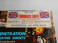 Penetration - Moving Targets UK Export 1978 Virgin Illuminous Vinyl LP SPANK 003