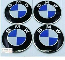 4x Logo Autocollants bleu 60mm centre de jantes Pour BMW cache moyeu de roue
