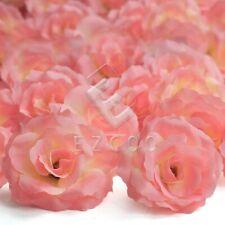 20pcs Artificial Big Rose Flower Heads Bulk Craft Wedding Decor DIY Lots Coral