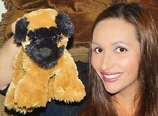 """Commonwealth BROWN BLACK ROTTWEILER? BOXER? Puppy Dog Plush Animal 10"""" TOY LOVEY"""