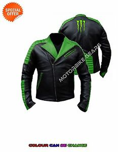 Green racing armoured bike jacket monster racing motorcyle gear any size colour