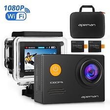 Action Cam Underwater Camera Wi-Fi 1080P 14MP with Case and Kit of Accessories