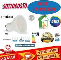 10PZ LAMPADINA A RISPARMIO ENERGETICO FARETTO LED 7 W LUCE NATURALE GU10 LAMPADA