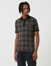 FRED PERRY X RAF SIMONS JACQUARD KNIT POLO Charcoal