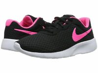 Nike TANJUN (GS) Grade School Girls Black/Hyper Pink Size 4 New With Box