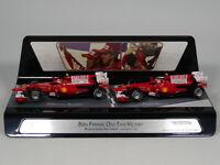 Hot Wheel 1:43 F1 Racing car model - 80th Ferrari one-two Victory Diecast model