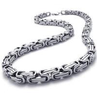 D75 Schmuck Herren-Kette, Edelstahl Biker Koenigskette Halskette, Silber, B M2B1