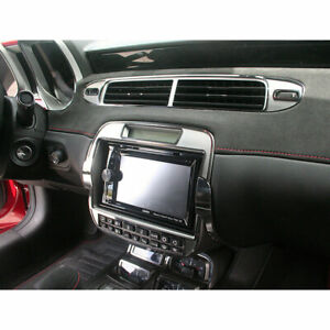 Radio Trim Plate for 2010-15 Chevy Camaro w/Aftermarket Radio [Polished/Brushed]