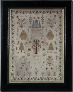 Antique Sampler, 1810, by Hannah Gay