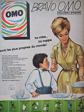 PUBLICITÉ DE PRESSE 1961 OMO LAVE TA ROBE TA NAPPE - COURONNE - ADVERTISING