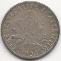 1904 France 1 Franc | Pennies2Pounds