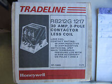 Honeywell R8212G 1217 Contactor 3 Pole 30 Amps Less Coil NEW!!! in Factory Box