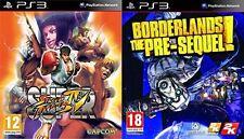 Super Street Fighter Iv Usado & Borderlands The Pre-Sequel PAL PS3 Nuevo y Sellado