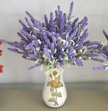 FD823 12 Heads Artificial Flower Lavender Leaf Bouquet Craft Home Wedding ~1PC~