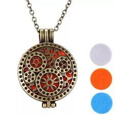 Steampunk Aromatherapy Oil Diffuser Locket Brass. For Perfume & Essential Oil