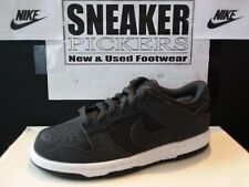 GS Nike Dunk Low Suede Leather Anthracite Black White 310569-034 Multi Size