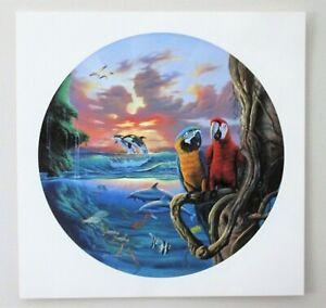 "JIM WARREN Signed Lithograph print  ""Paradise"" Fantasy Surreal 18 x 18"