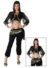 USED Unique Black Belly Dancer Gypsy Costume SIZE STANDARD