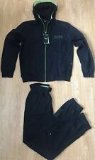 Hugo Boss Black Zipped Hooded Tracksuit  Top and Bottoms Navy Blue Size XL