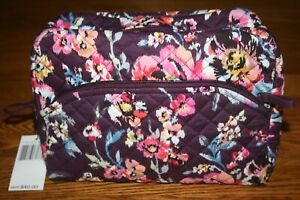 Vera Bradley Iconic Large Cosmetic Indiana Rose Bag case makeup travel  New