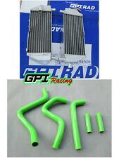 for Kawasaki KX250 KX 250 KX125 1994-2002 01 00 99 98 97 aluminum radiator+ hose