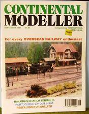 Railway magazine ~  CONTINENTAL MODELLER ~ September 1997 edition
