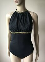Gorgeous Auth Wolford Bodysuit Halter With Crystal Accent. Size S