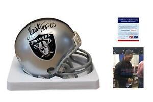 Marcus Allen SIGNED Oakland Raiders Mini Helmet - PSA/DNA Autographed w/ HOF