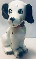 Vintage Ceramic Porcelain Dalmatian Black White Dots Spots Dog Figurine Japan