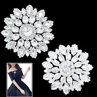 Rhinestone Trim Crystal Motif Diamante Sewing Bridal Dress DIY Fashion Accessory