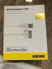 Kanex USB Sync and Charging Cable for iPhone 4/4s Or IPad 1, 2, 3 -White 1m Long