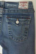 True Religion Brand Joey Boot Cut Womens Jeans Size 30x28 Stretch USA Distressed