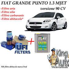 KIT TAGLIANDO FILTRI UFI  + 4 LT SELENIA 5W40 FIAT GRANDE PUNTO 1.3 MJET 90 CV