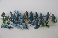 Vintage Britains Deetail Soldiers - WWII Germans with plastic companions